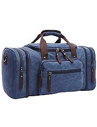Cozy Age Canvas Duffel Travel Tote Luggage Bag Weekend Bag Shoulder Bag