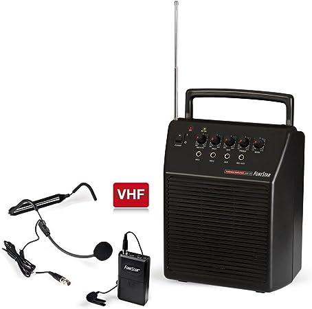 Fonestar ASH-25 Alámbrico Negro - Amplificador de Audio (600 Ω, 20 ...