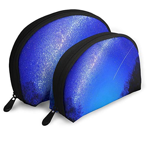 Makeup Bag Starry Night Meteor Portable Shell Makeup Case For Women Travel 2 -