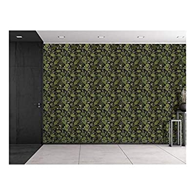 Pretty Expertise, With a Professional Touch, Large Wall Mural Seamless Pattern with Vine and Leaves Vinyl Wallpaper Removable Decorating