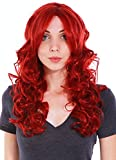 Simplicity Long Curly Full Wig Wavy Cosplay Halloween Party Wigs, Wine Red