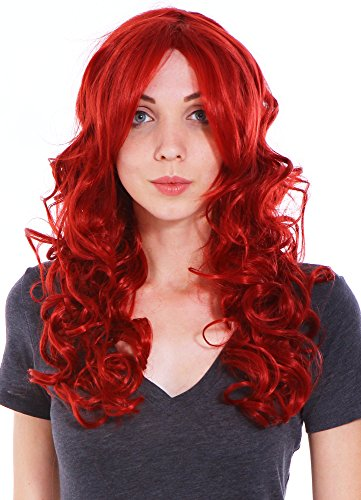 Wigs for Women Red Costume Wigs Curly Halloween Cosplay Wig