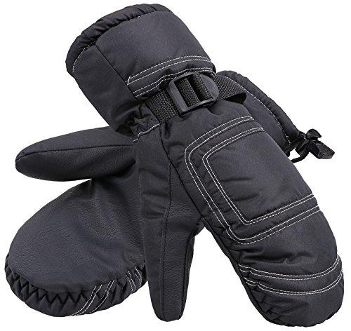 Livingston Women's Thinsulate Lining Outdoors Winter Ski Gloves, Black, M/L