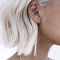 phitak shop Bar Earring Women Men Ear Stud Earring Chic Jewelry Geometric Distinctive Tiny