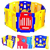 Cheap Baby Playpen Kids 8 Panel Safety Play Center Yard Home Indoor Outdoor Pen Playard