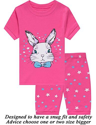 Little Girls Pajamas 100% Cotton Short Mermaid Pjs Toddler Clothes Kids Shirts