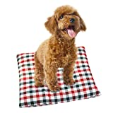 Alalaso Pet Mat Blanket, Pet Dog Cat Soft Warm Bed Puppy Cushion House (Watermelon Red,S)