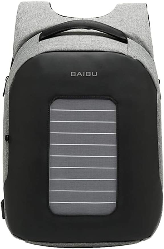 LoveinDIY Fashion Waterproof Laptop Solar Powered Backpack USB Charging Anti Theft Bag