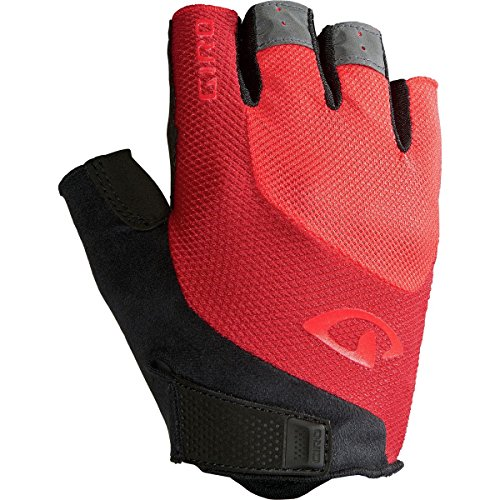 Giro Bravo Gel Cycling Gloves - Men's Bright Red (Short Finger Bike Gloves)