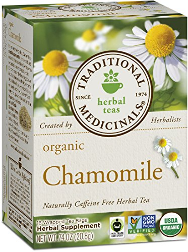 Traditional Medicinals Organic Chamomile Herbal Leaf Tea, 16 Tea Bags (Pack of ()