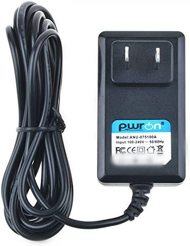 PwrON 6.6 FT Cable AC to DC Adapter for Suzuki Omnichord OM-200 OM-200m OM-250 OM-250m MIDI Synthesizer Charger; Suzuki Omnichord D12-50 0CA-2 OCA-2 DC Power Supply Cord