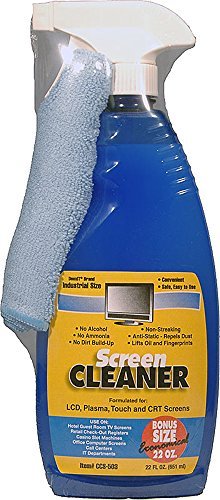 Screen Cleaner Kit with Included Microfiber Cloth - Alchohol-Free 22oz - For LCD, Plasma, & Touch Screens by CAIG Laboratories