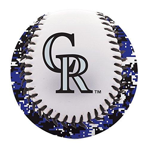 fan products of Franklin Sports MLB Colorado Rockies Digi Camo Soft Strike Baseball
