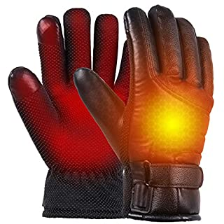 Shaboo Prints USB Heated Gloves for Women and Men, Electric Hand Warmer Winter Heating Gloves, Outdoor Waterproof Thermal Heated Gloves for Motorcycle, Working, Cycling, Fishing