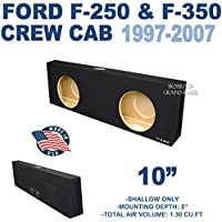 Ford F250 & F350 10 Dual Slim Shallow Mount Subwoofer box