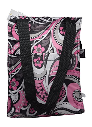 [Reusable Zippered Top Insulated Lunch Bag (Pink Paisley)] (6