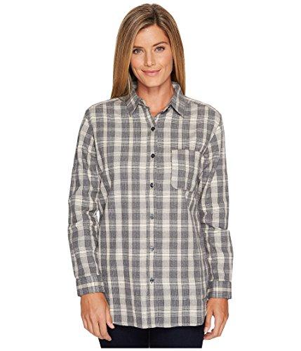 The North Face Long Sleeve Boyfriend Shirt TNF Medium Grey Heather Plaid Womens Long Sleeve Button Up ()
