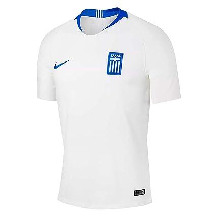 f459374434a Amazon.com : Nike 2018-2019 Greece Home Football Soccer T-Shirt ...