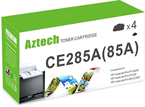 Aztech 4 Pack 1,600 Pages Yield Black Compatible Toner Ca...