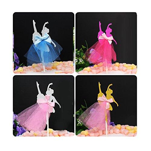 4 colores bailarina tutú de bailarina de tartas decoración ...