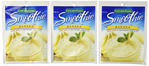 Concord Foods, Banana Smoothie Mix, 2oz Packet (Pack of 6) ()