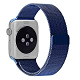DRUnKQUEEn Apple Watch Band, 42mm Milanese Loop Stainless Steel Smartwatch Bracelet Strap Band for 42mm Apple Watch & Sport & Edition with Unique Fully Magnetic Lock Closure (No Buckle Needed)