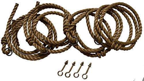 A&L Furniture 10′ Rope Kit for Amish-Made Swings and Swing Beds, Fits Up to 10′ Ceiling