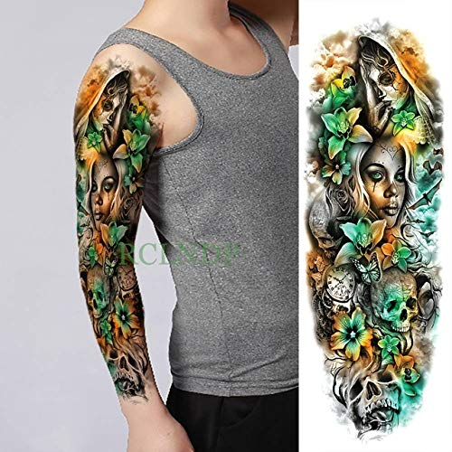 ljmljm 3pcs Tatuaje Impermeable Etiqueta Flor de Loto Pagoda ...