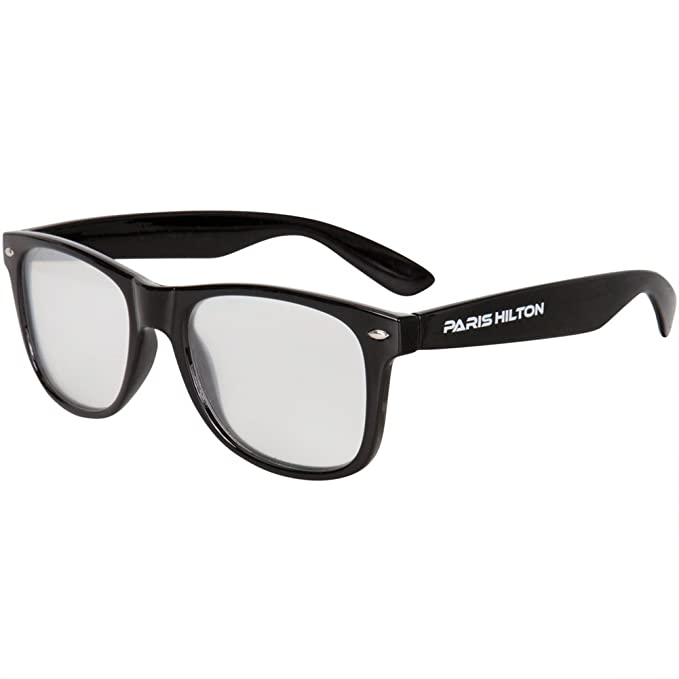 0081b27663 Paris Hilton - Diffraction Lense Black Sunglasses - Black at Amazon ...