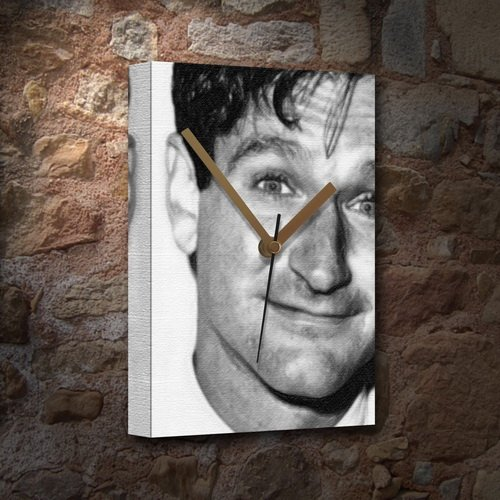 Seasons ROBIN WILLIAMS - Canvas Clock (A5 - Signed by the Artist) #js002
