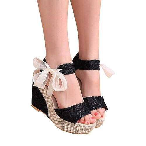 Sexy Mujer Abierta Cordones Zapatos Punta Para Sandalias Con QBostdxhrC