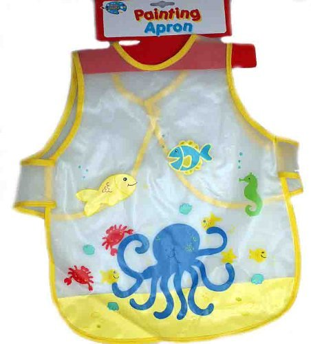 Toddlers Yellow Art And Craft, Painting And Cooking Apron by A TO Z