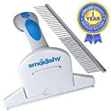 Dog Brush (Short Hair & Long Hair) for Shedding from Smooshy - Your Pet Grooming Kit for Dogs and Cats of All Sizes - The Amazing Self Cleaning Brush For Dematting, Dandruff & More