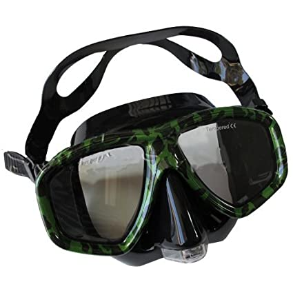 9a012fa06f8 Scuba Choice Camouflage Dive Purged Mask NEARSIGHTED Prescription RX Optical  Lenses (-1.0)