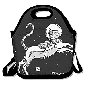 Cat Fly Into Space Lunch Tote Bag Bags Lunch Pouch Awesome Lunch Handbag Lunchbox Lunch Box