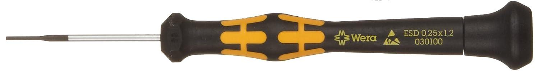 Noir//jaune Wera 05030101001 Micro Tournevis pour vis /à fente Kraftform 1578A 0.23x1.5x40mm
