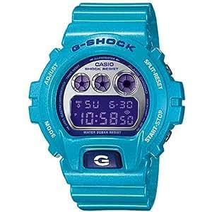 CASIO G-Shock DW-6900CB-2ER - Reloj de caballero de cuarzo, correa de resina color azul claro (con cronómetro, alarma, luz)