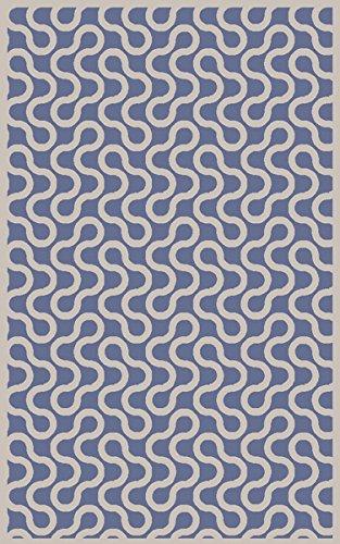 Surya Aimee Wilder NTV7008-23 Hand Woven Geometric Accent Rug, 2-Feet by 3-Feet, Cobalt/Ivory