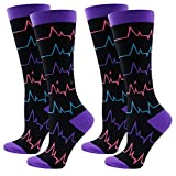 Compression Socks (Fun Patterns 15-20mmHg) for Women Running Athletic Socks WXXM