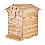 Popsport Beehive Frames 20x16x10 Inch Beehive Wooden House Wood Honey Bee Hive House with 7PCS Auto Flow Frames Honey for Beekeeping (Beehive Frames with Auto Flow Honey)