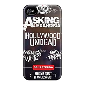 Perfect Hard Cell-phone Cases For Iphone 4/4s (EjI4487ZlfJ) Custom Attractive Asking Alexandria Band Pictures