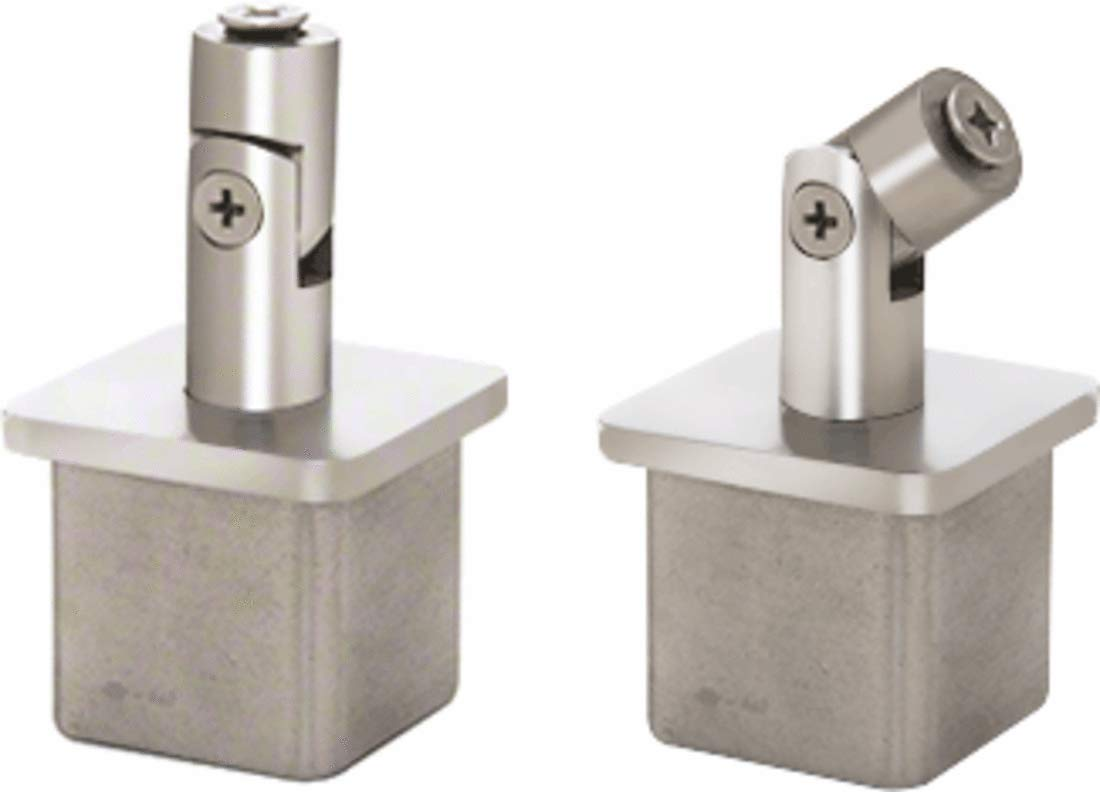 CRL Polished Stainless Vertically Adjustable Post Caps for Standoff Saddles