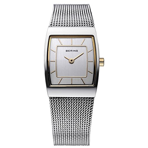 BERING Time 11219-000 Womens Classic Collection Watch with Mesh Band and scratch resistant sapphire crystal. Designed in Denmark.