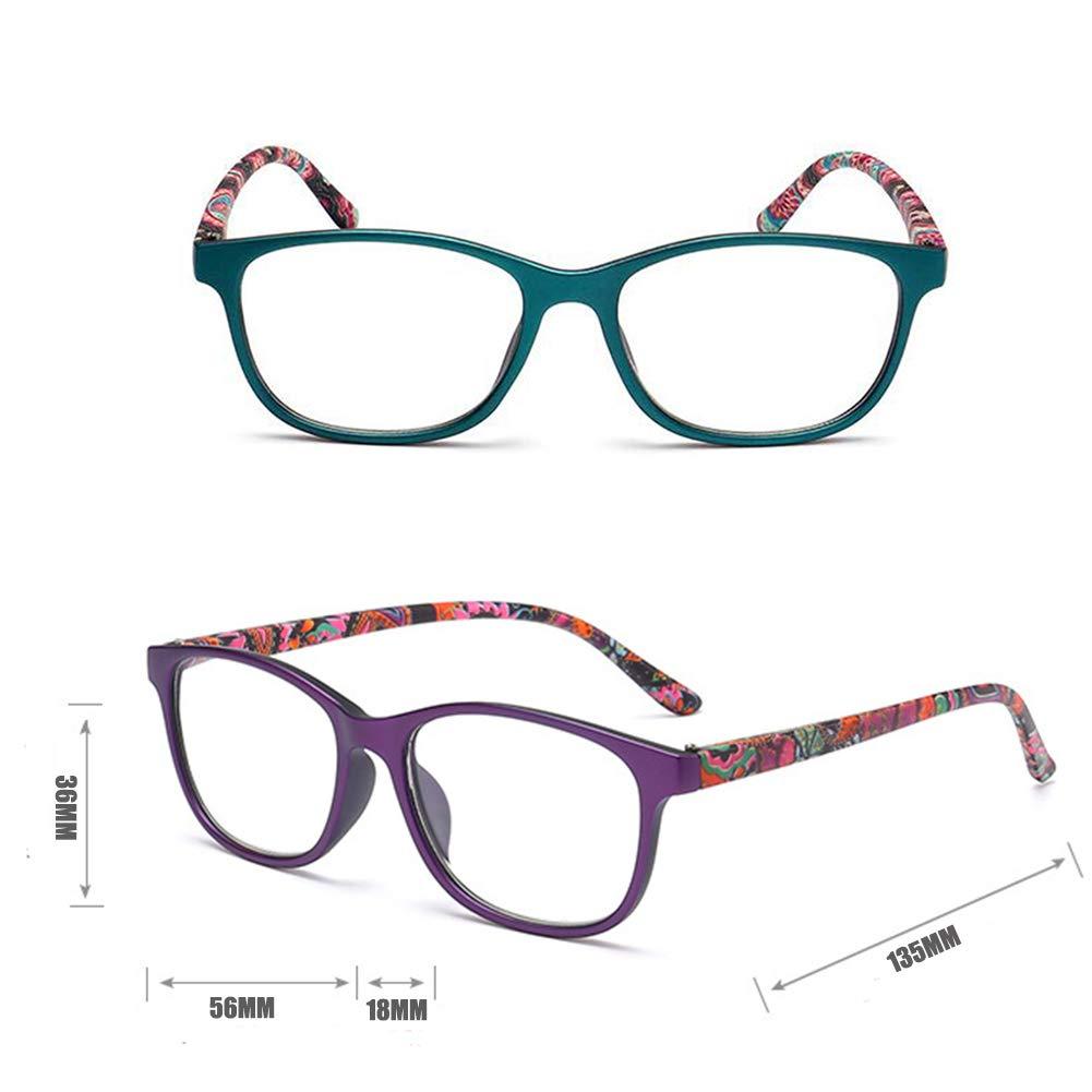 1.0 /à Inlefen 2 paires de lecteurs de printemps /à charni/ère lunettes de lecture pour les hommes et les femmes 4.0