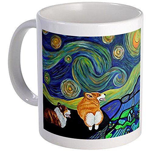 - CafePress Corgi Starry Night Mug Mugs Unique Coffee Mug, Coffee Cup