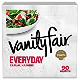 Vanity Fair Everyday Napkins, 1080 Count, White Paper Napkins, 12 Packs of 90 Napkins