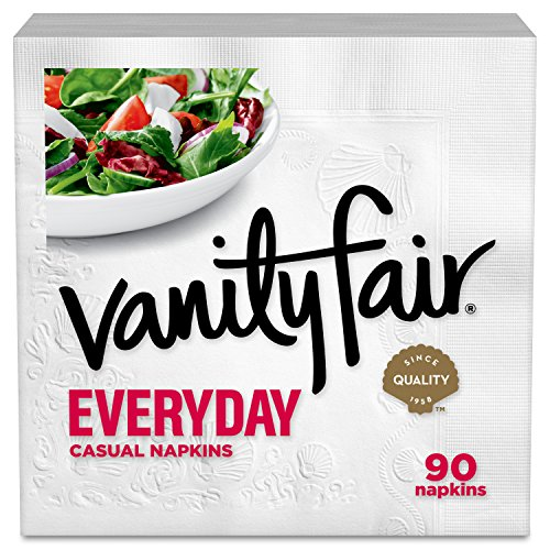 Vanity Fair Everyday Napkins, 1080 Count Paper Napkins (12 Packs of 90 Napkins) (Packaging Design May Vary)