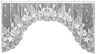 product image for Heritage Lace Seascape 72-Inch Wide by 36-Inch Drop Swag Pair, White
