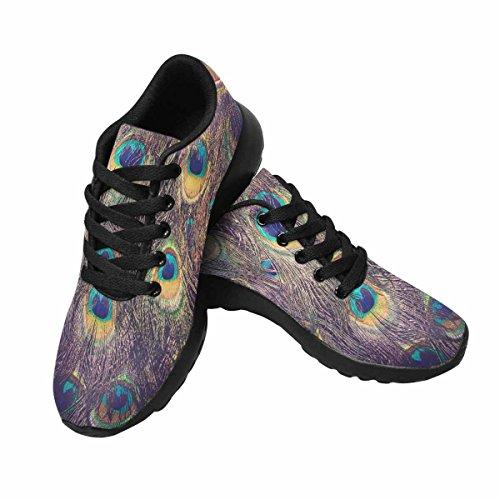 Interestprint Peacock Feather Mujeres Jogging Running Sneaker Ligero Go Easy Walking Zapatos Multi 1