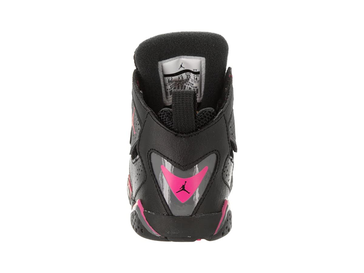 the best attitude aba33 2b53a Amazon.com   Jordan Nike Toddlers True Flight GT Black Dark Grey Deadly Pink  Basketball Shoe 5 Infants US   Sneakers